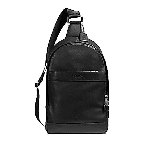 Coach Charles Pack In Smooth Leather Black (Coach Shoes Black Men)