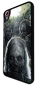 039 -Cool Funky walking dead Zombie Scary Design For htc Desire 826 Fashion Trend CASE Back COVER Plastic&Thin Metal