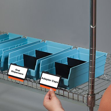 Divine Medical Kanban Extended Label Holders for Shelf Bins, 6 Per Package (Label Holders Extended)