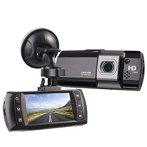 """UNITOPSCI Dash Cam 1080P FHD DVR Car Driving Recorder 2.7"""" LCD Screen 170°Wide Angle, G-Sensor, WDR, Parking Monitor, Loop Recording, Motion Detection"""