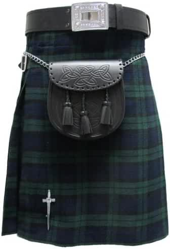 Black Watch 5 Yard 10 oz Scottish Highland KILT (Formal & Everyday) 30-54
