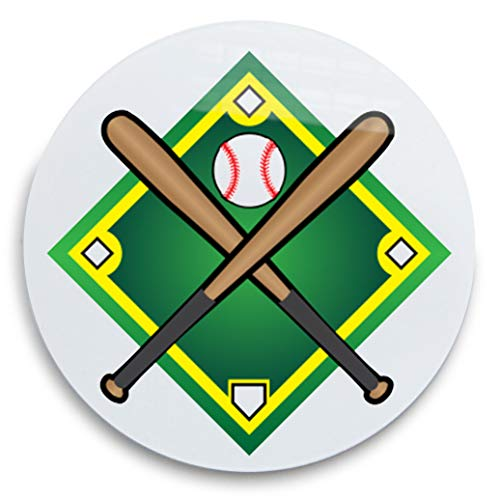 Pro-Tuff Decals Baseball Award Decal Set (100 Decals) Helmet Decals Diamond with Crossed Bats and Baseball -