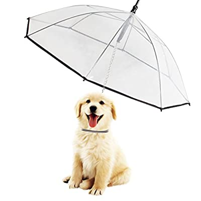 Morjava W555 Pet Dog Umbrella Leash Transparent Waterproof for Dog Walking by Morjava Tech Limited