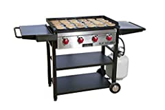 Cooking a lot of food is easy when using Camp Chef's Flat Top Grill. The large surface area will enhance your cooking experience giving you plenty of room to work so cooking is done efficiently. Included is an interchangeable flat top griddle...