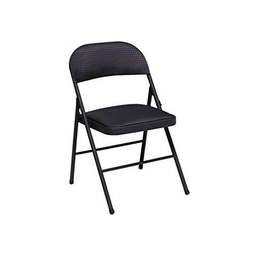 Cosco Fabric Padded Seat - Cosco Fabric Seat & Back Folding Chair Black Steel Frame