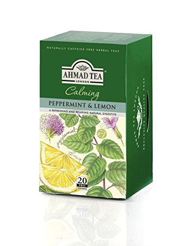 Ahmad Tea Peppermint & Lemon Infusion, 20-Count Tea Bags (Pack of 6) ()