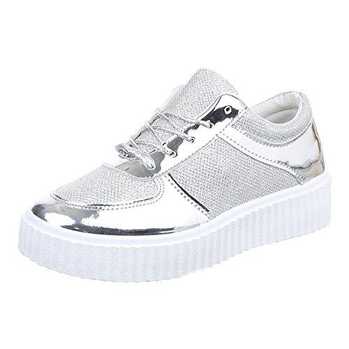 altas Design Mujer plata Zapatillas Ital HwE0XRqc