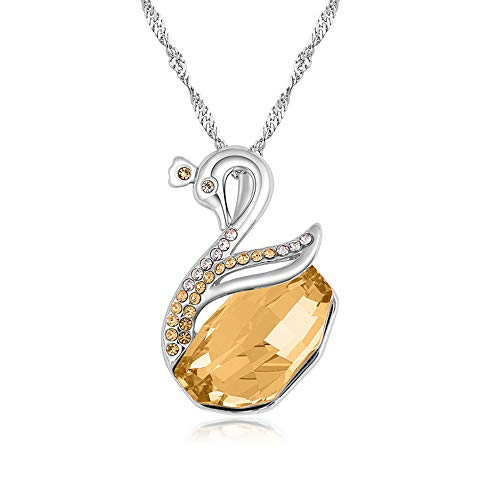- set adil Necklace,Charm Pendant Chain Necklace Alloy Necklace for Women and Girls(Yellow)