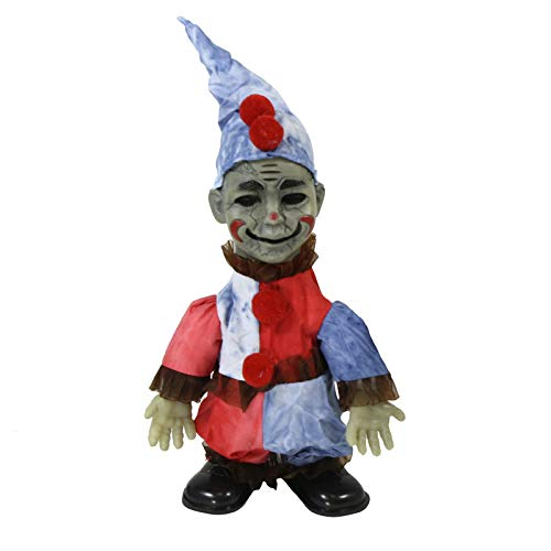 Largemouth Animated Zombie Doll Halloween Decoration, Clown