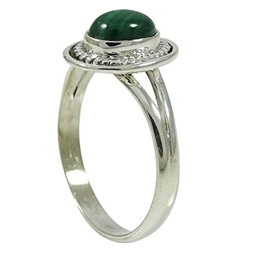 Banithani925 argent pur nouveau mode cadeau de bijoux bague en pierre malachite pour les femmes