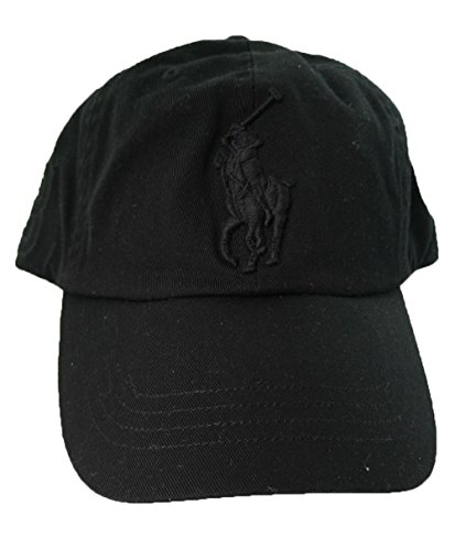 Polo Ralph Lauren Men Big Pony Logo Hat (Black / Black Pony)