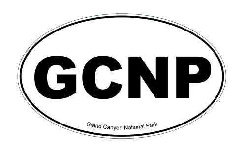 GCNP Grand Canyon National Park Oval Vinyl Decal Sticker