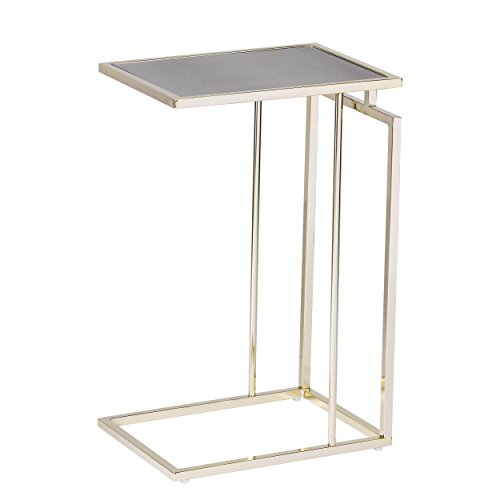 Holly & Martin – Colbi C Table/ Snack Side End Table (Gold w/ Antique Mirror) by Holly & Martin