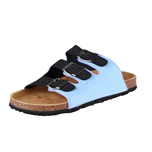Camprella-Bio Mule Carina sandalias blau/multi