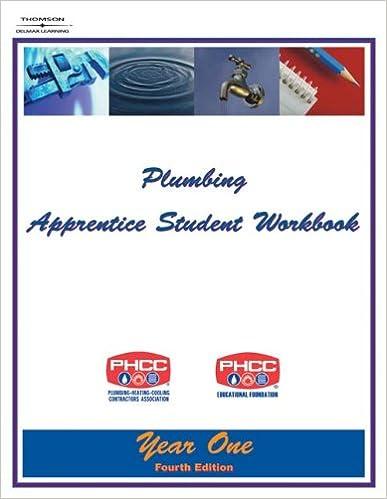 Plumbing Apprentice Student Workbook: Year One 4E