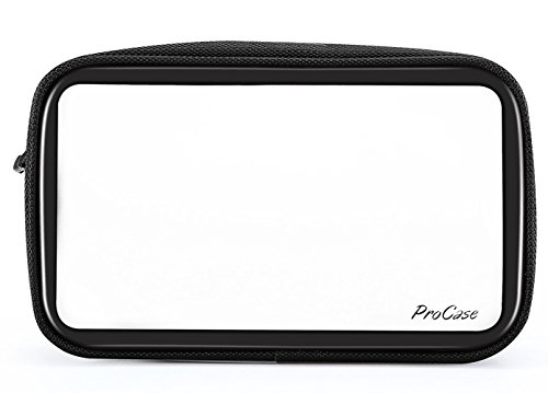 (ProCase TSA Approved Travel Toiletry Bag Pouch, Matte Clear Travel Organizer Airport Carry-On Checkpoint Airline Compliant Storage Bag for Toiletries Liquids Creams and Cosmetics)