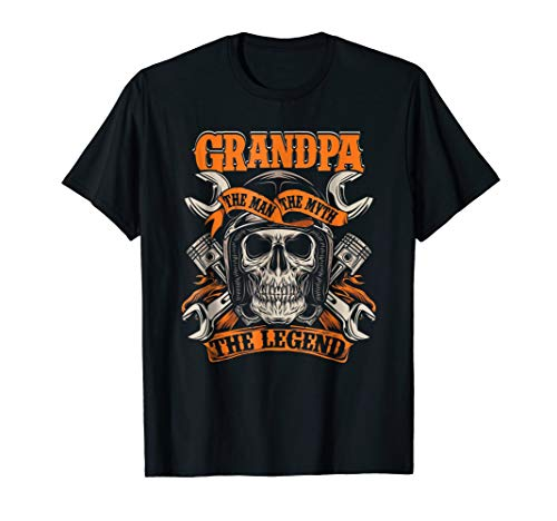 Biker Grandpa The Man The Myth The Legend Motorcycle Shirt