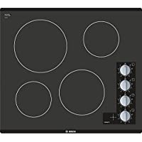 Bosch NEM5466UC 500 Series 24 Frameless Electric Cooktop with 4 Burners Infinite Temperature Controls Powerful 2200W Burner 2-Level Heat Indicator and Glass Seamless Design in