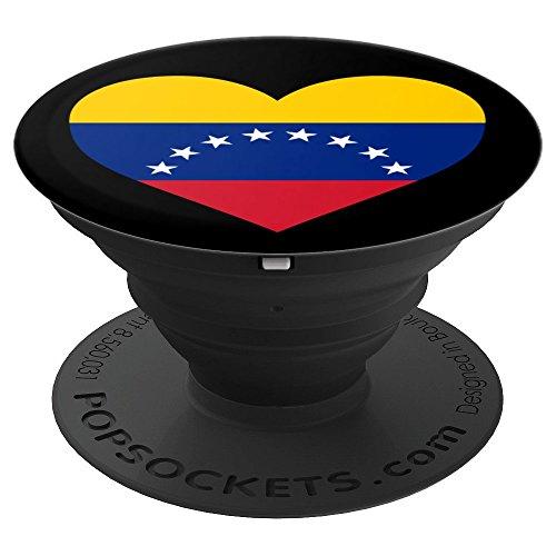 Venezuela Love Heart Flag - Venezuela Flag Patriotic Venezuelan Love Heart - PopSockets Grip and Stand for Phones and Tablets