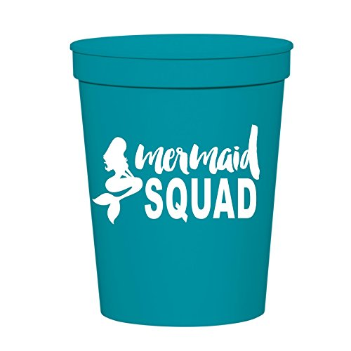 Mermaid Squad Cups, Stadium Cups, Mermaid Party Decororations, Mermaid Party Cups, Mermaid Bachelorette Party or Birthday Party Cups, Plastic