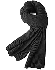 Warm Autumn and Winter Scarf,EONPOW Men's Pure Color Knitting Scarves