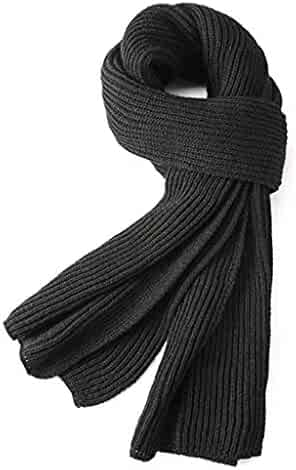 dd945702ef76d Warm Autumn and Winter Scarf,EONPOW Unisex Pure Color Winter Neck Warm  Knitting Yarn Scarf