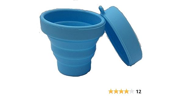 Mix Flower Esterilizador De Copa Menstrual Caja De Almacenamiento Esterilizadora con Tapa Silicona Taza Plegable 170ml Grado Médico Reutilizable Azul ...