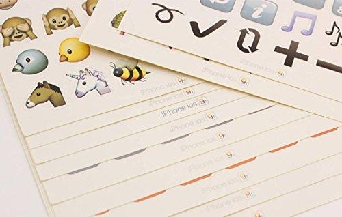 20 Set 960 Piece Random Die Cut Emoji Stickers Ipod Ihome Phone Iphone Home Button Luggage Laptop Macbook Notebook Message Decal Funny Smile Vinyl Sticker Decor Persuasive Unique Cute Fun Face Decals