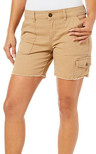 Unionbay Flat Front Shorts (Supplies by Unionbay Womens Elaine Shorts 10 Sandy Brown)