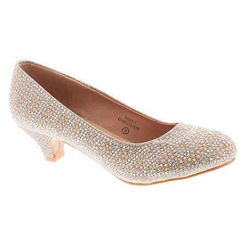 Static Fashion Womens Kora-1 Low Heel Dress Stunning Dress Pumps (Dress Heel Shoe)