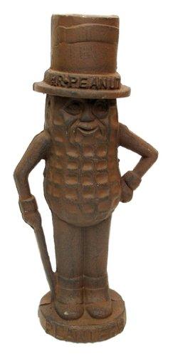 Best Quality- Mr. Peanut Man Cast Iron Bank Large Rust