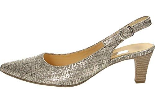 Gabor Shoes Fashion, Zapatos de Talón Abierto para Mujer Gris