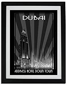 Address Hotel Down Town- Black And White F06-m (a1) - Framed