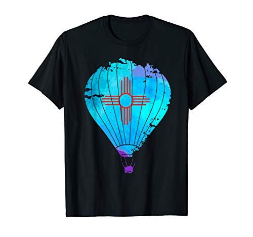 New Mexico Festival Hot Air Balloon Zia Gift T shirt
