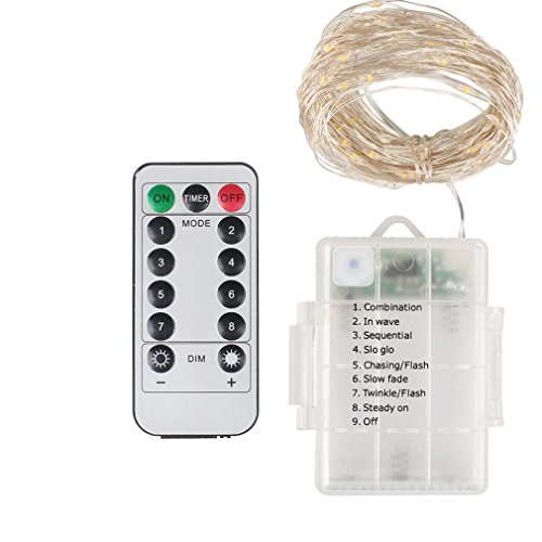 LiPing 5M 50LED Variable Brightness Waterproof Remote Control