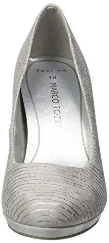Marco Tozzi Women's 22435 Platform Pumps Grey (Lt.grey Comb 248) dhOoWFxdLY