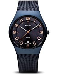 BERING Time 11937-393 Classic Collection Watch with Mesh Band and scratch resistant sapphire crystal. Designed...