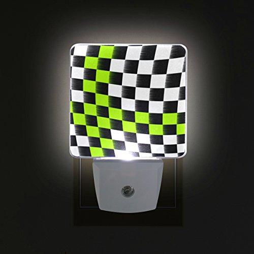 GIOVANIOR Checkered Flag Plug in Dusk to Dawn
