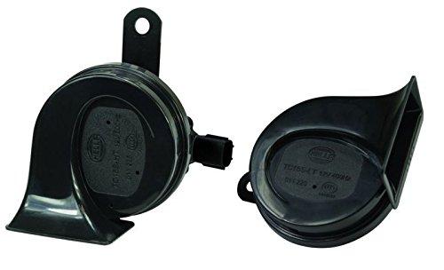 HELLA 011225921 Black 12V BX Trumpet Horn Kit (Ford) (Horn Replacement)