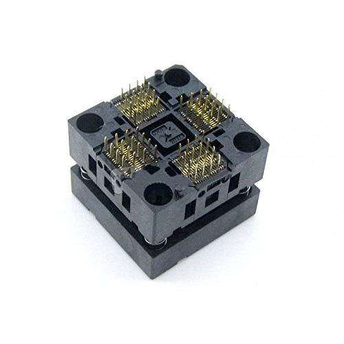 Test and Burn-in Socket Pitch CQRobot 0.4mm OTQ-64-0.4-01, Test and Burn-in Socket, Enplas IC Test and Burn-in Socket, for QFP64/TQFP64/FQFP64/PQFP64 Package.