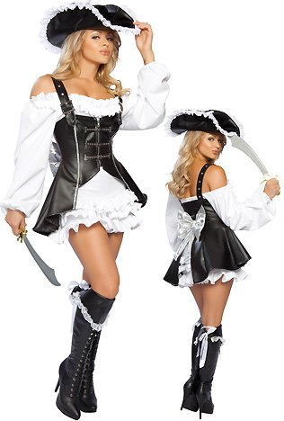 Roma Women's 4Pc. Pirate Maiden Costume, Medium / Large - Female Pirate Costumes Ideas