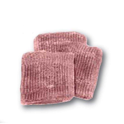 Disco Brillo Steel Pink Wool Soap Pad, 4 x 4 inch - 10 per pack - 12 packs per case.