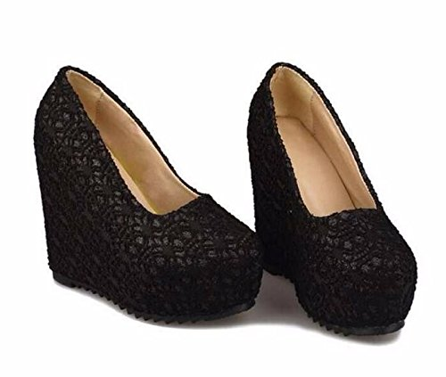 The Female Heeled Platform Autumn And High Ladies Fashion Shoes Clubbing Black Period Waterproof Shoes Summer Slope Documentary Heeled Spring Shoes Bottom Thick GTVERNH Women'S 12Cm High vOn8ZwpxU