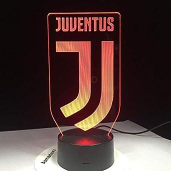 3d Fussball Lampe Juventus Club Neues Logo 7 Bunte Tier Fuhrte Nachtlicht Beste Geschenke Fur Kinder Papa Freunde Geburtstagsgeschenk
