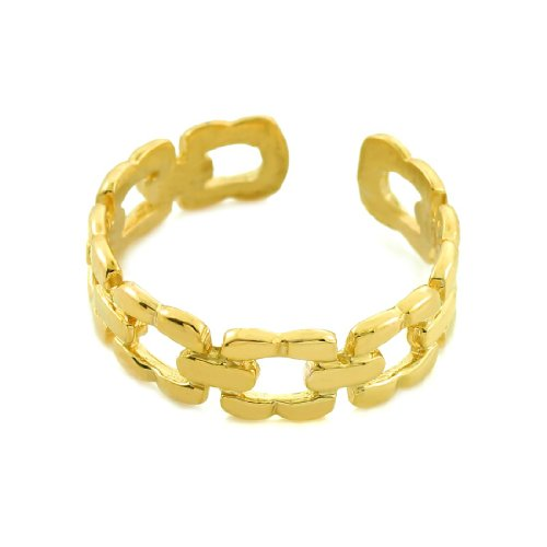 10k Gold Chain Link Toe Ring by More Toe Rings