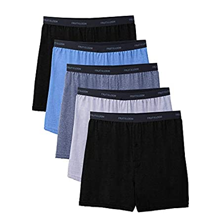 48-50 Hanes Mens 5-Pack FreshIQ ComfortSoft Boxer with ComfortFlex Waistbands Assorted, XXX-Large