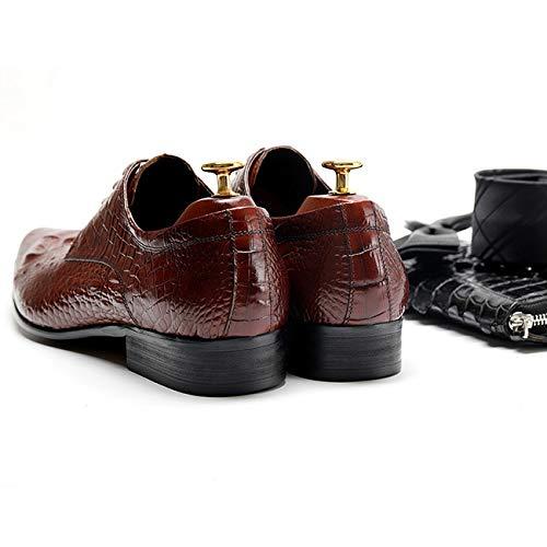 Souy Cocodrilo Ata Rojo Vestido Formal Oxford Novia B Inteligente Forrado Del Los Negocios Trabajo Zapatos Hombres Oficina Cuero El De Negro Arriba Para Modelo rBrRX