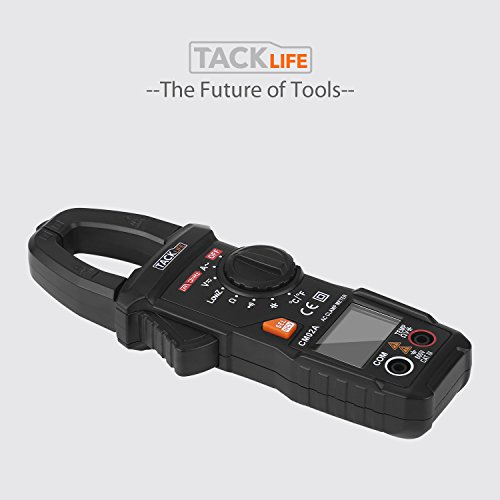 Digital Clamp Meter, Tacklife CM02A 600 Amp TRMS 6000 Counts NCV with AC Current AC/DC Voltage Test Temperature Measure Auto-Ranging Multimeter by TACKLIFE (Image #8)