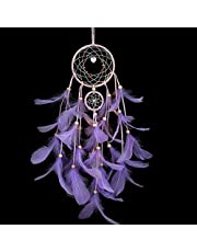 Dream Catcher, MUZIEBA Girl Bedroom Ornament Dream Catcher Dream Catcher Manual Traditional Feather Dream Chaser Wall-Mounted Home Decor Wedding Party Decoration Craft Gift