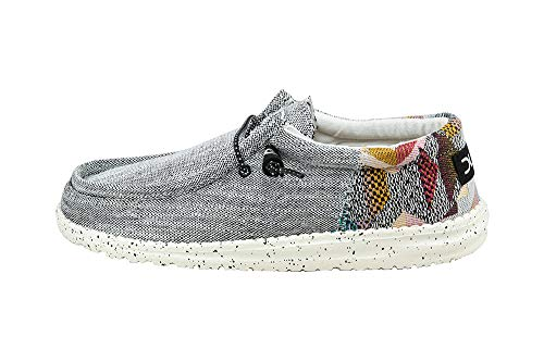 Hey Dude Men's Wally Funk ETNO Grey, Size - Woven Shoe Leather Loafer